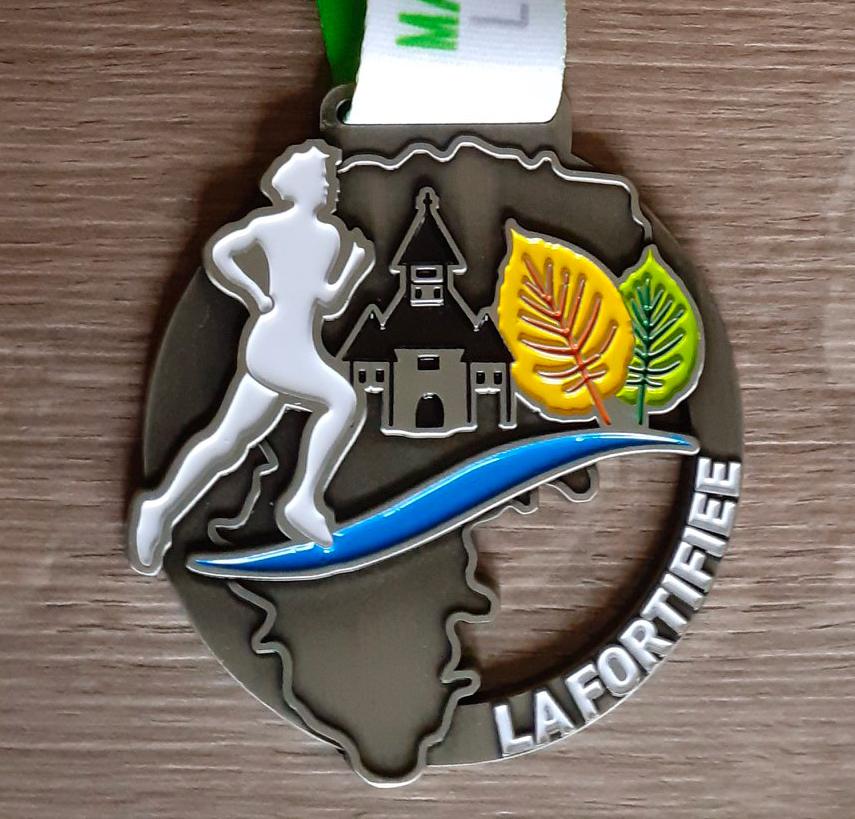 médaille marathon la fortifiée 2020